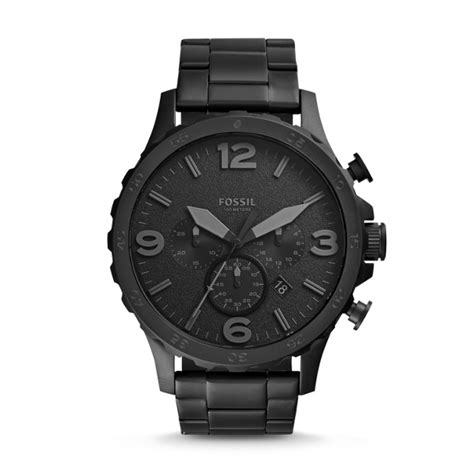 Fossil Chrono Black nate chronograph black stainless steel fossil