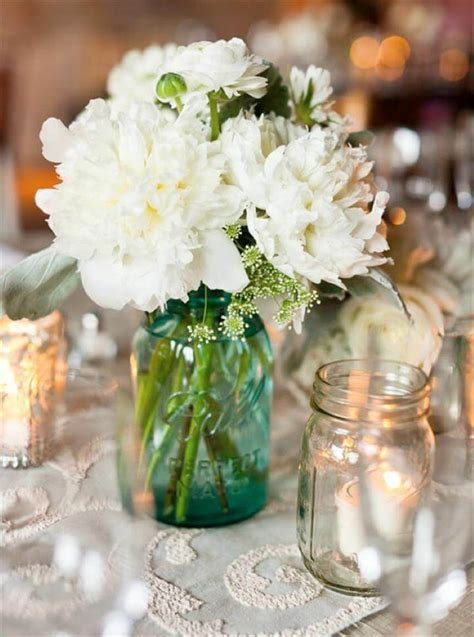 wedding table decoration ideas with jars 15 jar decor centerpiece ideas diy to make