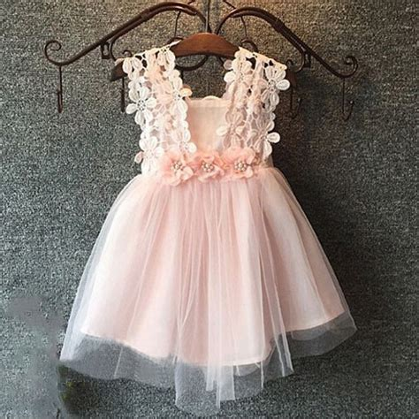 Square Flower Dress a line square pink tulle flower dress with lace