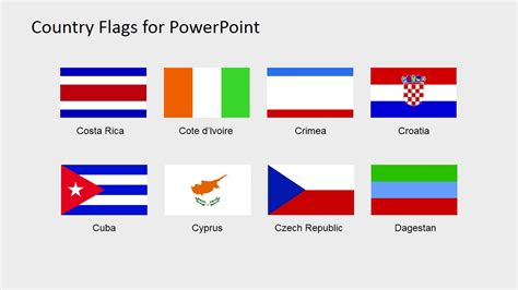 flags of the world ppt country flags clipart for powerpoint c to d slidemodel