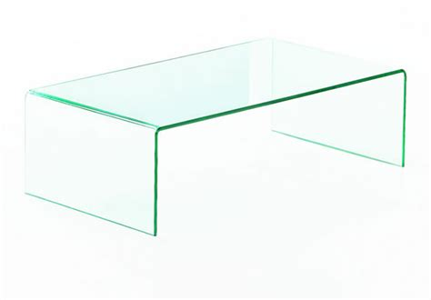 geo glass clear glass coffee table