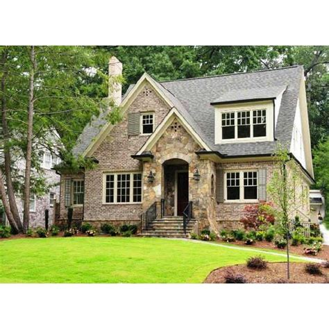 cottage style homes home exteriors brick cottage cottage style home in atlanta liked on polyvore
