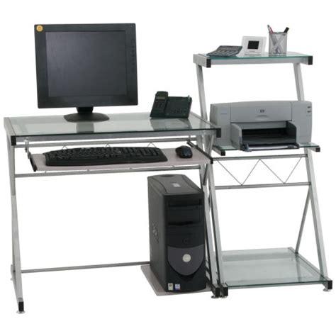 schmaler computertisch glas computertisch pc tisch schreibtisch mit
