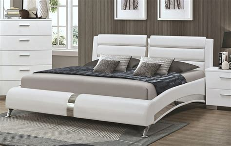 white modern bed palermo modern platform bed collection