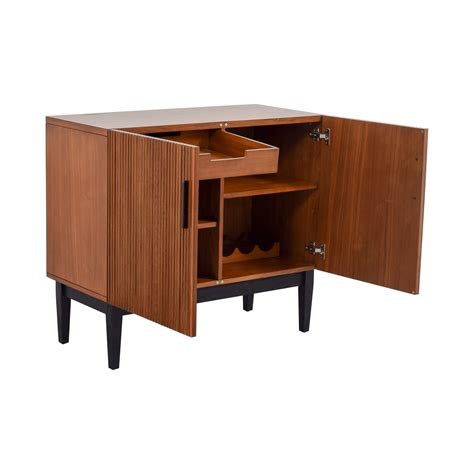 west elm graphic bar cabinet 45 off west elm west elm wood bar cabinet storage