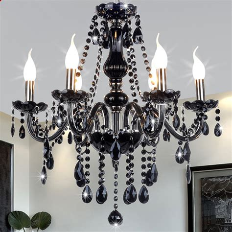 black bedroom chandelier new modern black crystal chandeliers lighting for