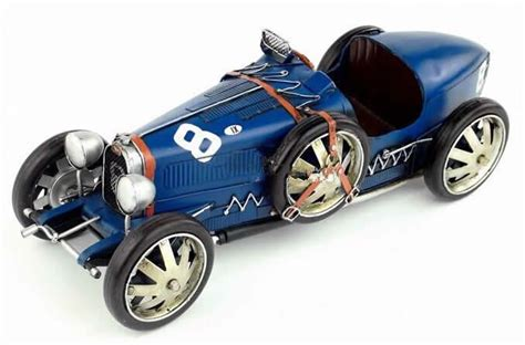 vintage bugatti race car handmade antique model kit car 1924 bugatti race car
