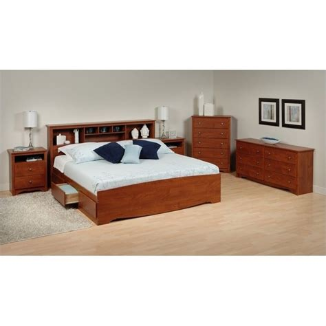 5 king bedroom set 5 king bedroom set in cherry cbk 8400 pkg1