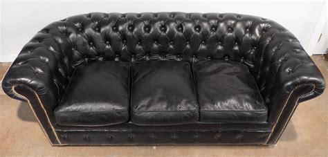 vintage black chesterfield sofa vintage black leather chesterfield sofa at 1stdibs