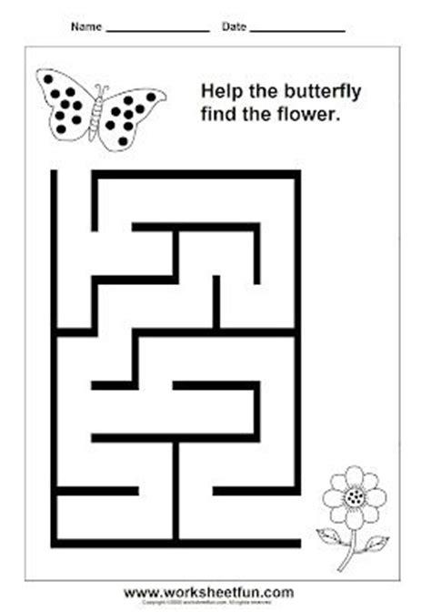 printable maze worksheets for kindergarten preschool and kindergarten mazes printable worksheets
