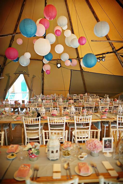 Tipi Wedding / Paper Lanterns / Wedding / Candy Colours