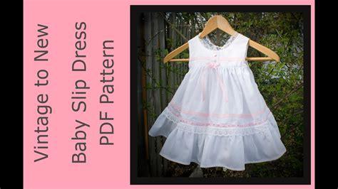 sewing pattern baby slip dress vintage