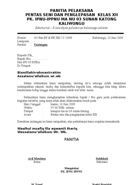 Contoh Surat Resmi Untuk Gubernur Surat Dinas