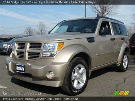 light sandstone metallic 2010 dodge nitro sxt 4x4 pastel pebble beige interior gtcarlot