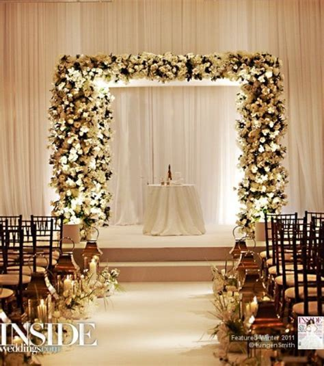 17 Best ideas about Indoor Wedding Arches on Pinterest
