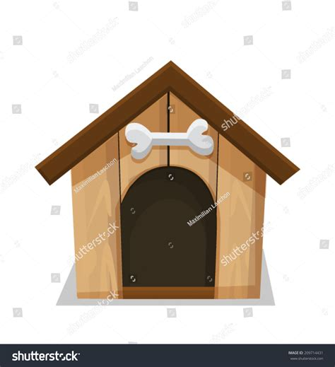 dog house background dog house bone isolated on white stock vector 209714431 shutterstock
