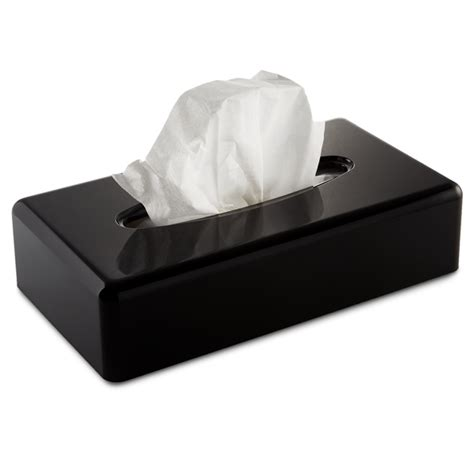 black rectangular tissue box cover hotel supplies
