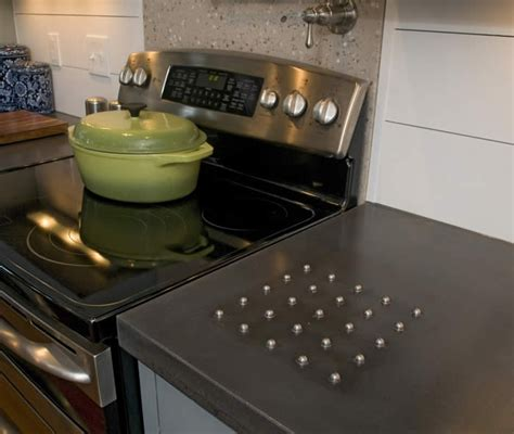 Concrete Countertops Raleigh by Concrete Countertop With Built In Trivet Concrete W