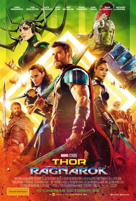 thor ragnarok new thor ragnarok poster features the entire cast