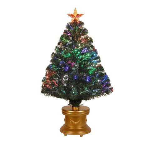 3 ft fiber optic xmas tree national tree company 3 ft fiber optic artificial tree with revolving leds szrx7 100r