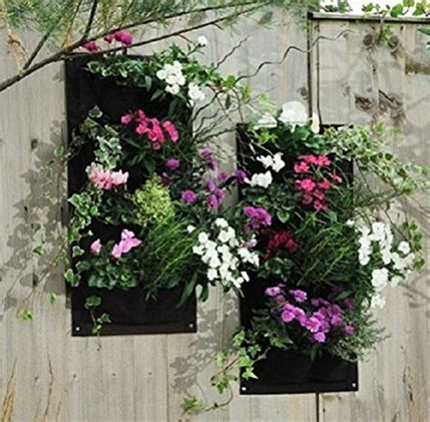 Pocket Vertical Garden Amgate Gardens 4 Pocket Vertical Wall Garden Planter Wall