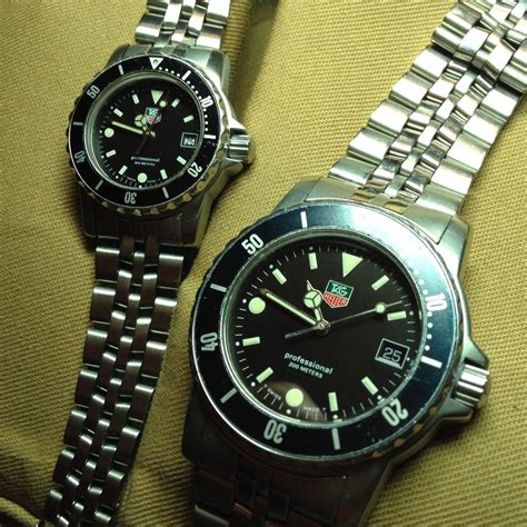 fsot tag heuer s and s matching dive