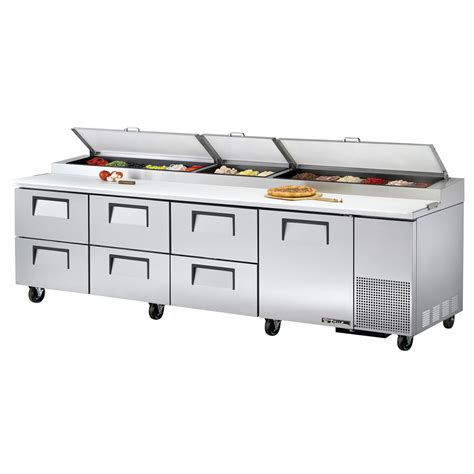 pizza prep bench true tpp 119d 6 119 quot pizza prep table w refrigerated base