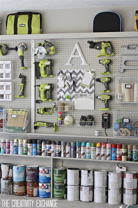 spray paint materials needed organizing the garage with diy pegboard storage wall