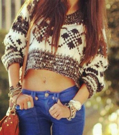 Luppy Blouse 1 i when wear belly shirts with belly rings but