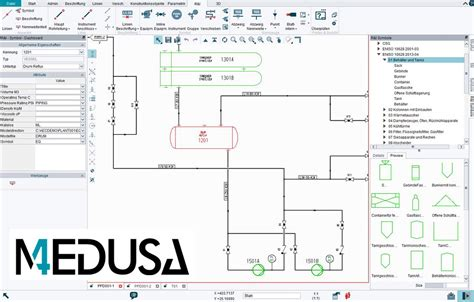 p id diagram software p id software module for 2d cad medusa4 p id