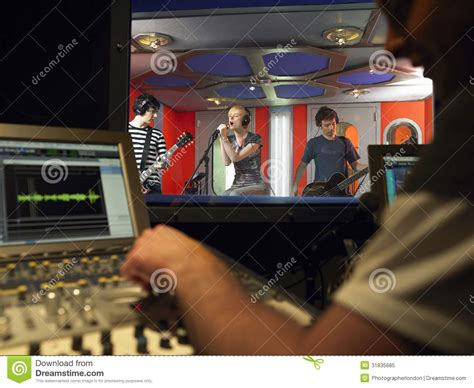 Studio Technician band in recording studio royalty free stock photo image 31835685