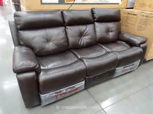 leather power reclining sofa costco best sofas decoration