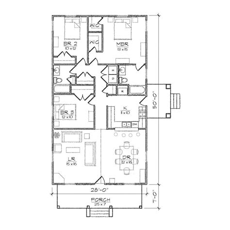 more 5 floor plan for narrow living room