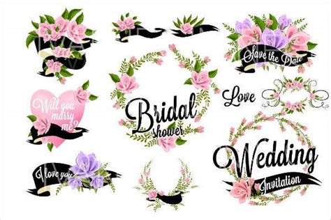 bridal shower party banners design templates