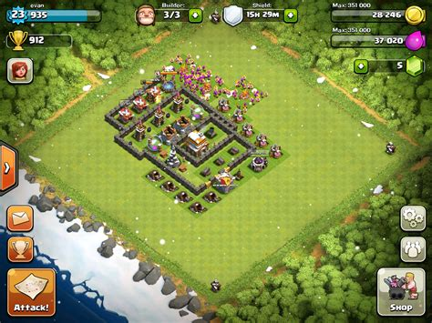Layout Village Clash Of Clans | clash of clans good village layouts wiki