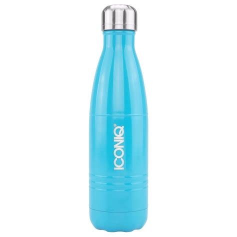 with water bottles iconiq 17oz gloss blue water bottle stainless steel