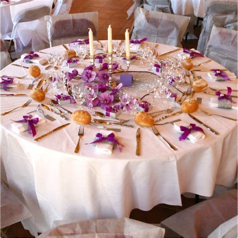 Decoration Table Ronde Mariage by Nappe Ronde Intiss 233 Opaque 240 Cm Nappes Rondes Intiss 233