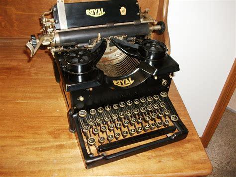 antique royal typewriter working by typewritersandthings