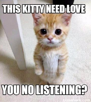 This Meme - meme creator this kitty need love you no listening meme