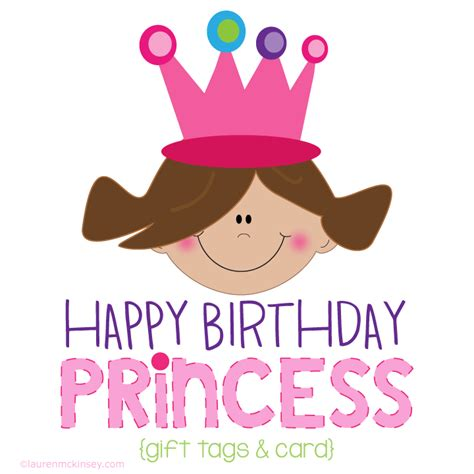 Printable Birthday Gift Tags Cards - complete collection princess birthday gift tags and card lauren mckinsey printables