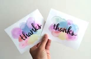 easy 5 minute diy watercolor greeting card recess