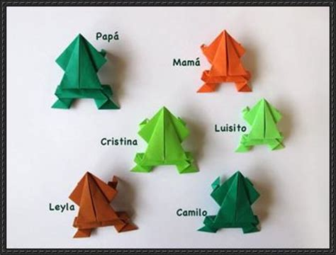 Origami Jumping Frog Square Paper - how to fold an origami jumping frog