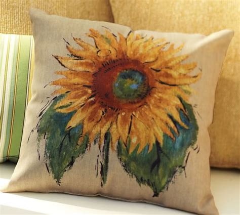 Sunflower Rug Pottery Barn by Painted Sunflower Indoor Outdoor Pillow Pottery Barn