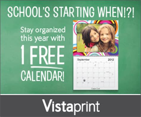 Calendar 5 Years Ago Vistaprint Free Photo Calendar Just Pay Shipping