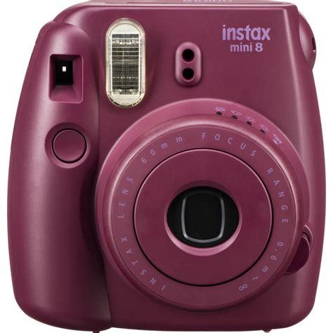 fuji instant mini 8 fujifilm instax mini 8 instant plum 16532275 b h