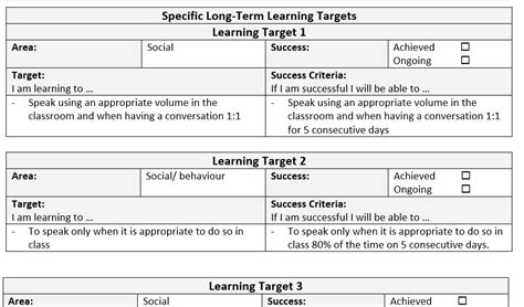 educational development plan template individual education plan template sle mash ie