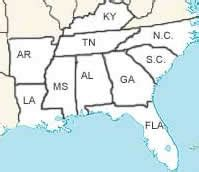 Pics photos southern states printable map quiz