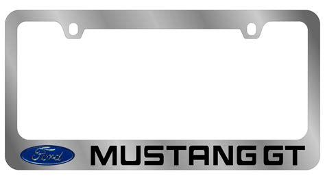 mustang frames ford license plate frame mustang gt logo word