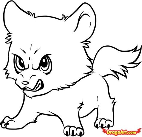 baby werewolf coloring page how to draw chibi wolf jacob step by step chibis draw