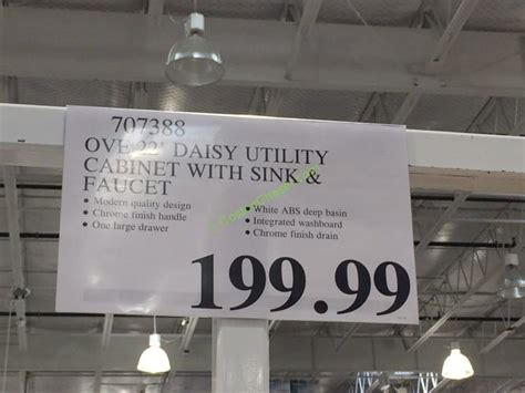 ove  daisy utility cabinet  sink faucet